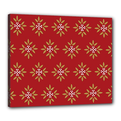 Pattern Background Holiday Canvas 24  X 20