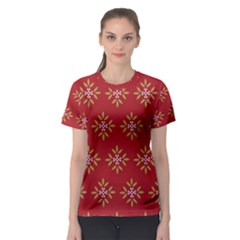 Pattern Background Holiday Women s Sport Mesh Tee