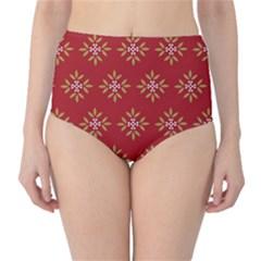 Pattern Background Holiday High Waist Bikini Bottoms