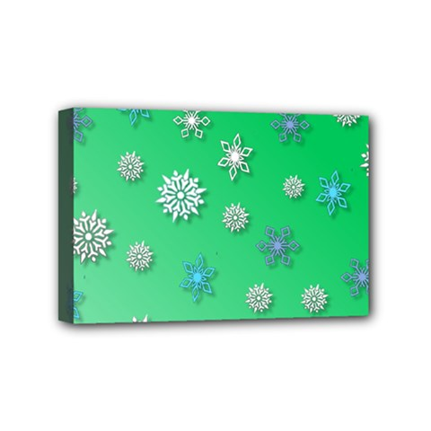 Snowflakes Winter Christmas Overlay Mini Canvas 6  X 4