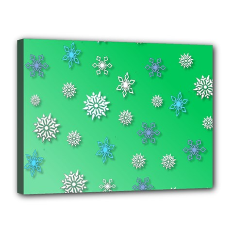 Snowflakes Winter Christmas Overlay Canvas 16  X 12