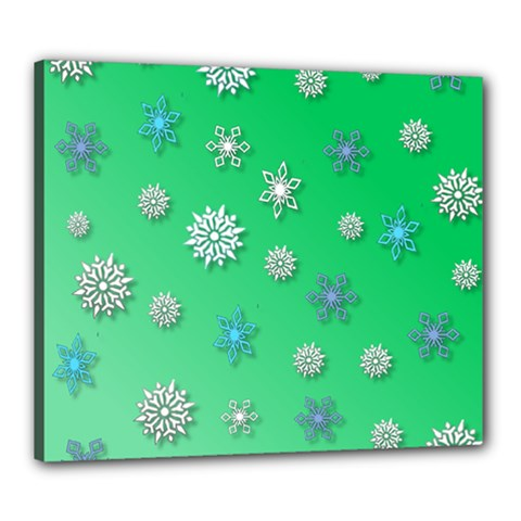 Snowflakes Winter Christmas Overlay Canvas 24  X 20
