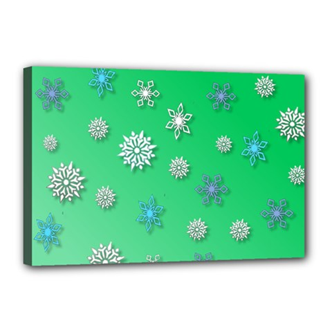 Snowflakes Winter Christmas Overlay Canvas 18  X 12