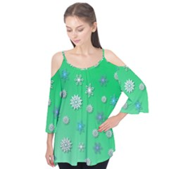 Snowflakes Winter Christmas Overlay Flutter Tees