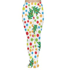 Pattern Circle Multi Color Women s Tights