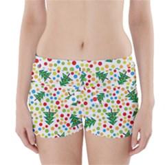 Pattern Circle Multi Color Boyleg Bikini Wrap Bottoms