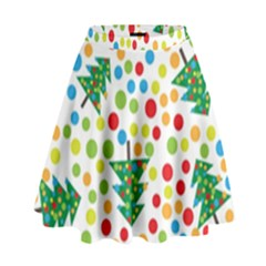 Pattern Circle Multi Color High Waist Skirt