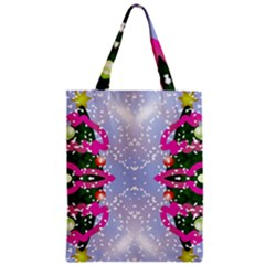 Seamless Tileable Pattern Design Zipper Classic Tote Bag