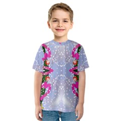 Seamless Tileable Pattern Design Kids  Sport Mesh Tee