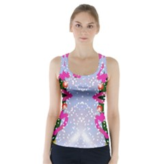 Seamless Tileable Pattern Design Racer Back Sports Top