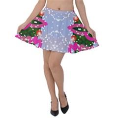 Seamless Tileable Pattern Design Velvet Skater Skirt