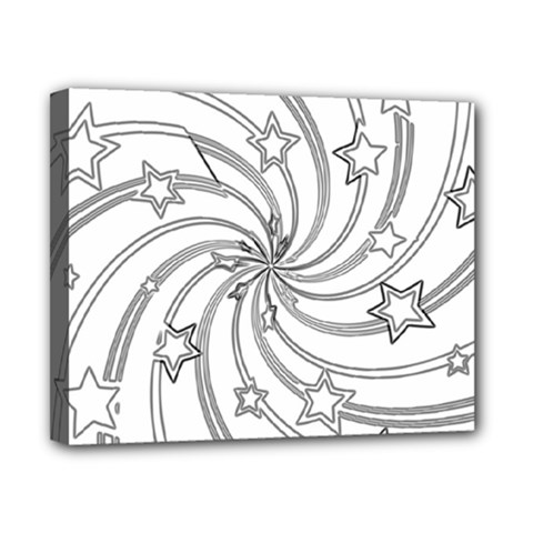 Star Christmas Pattern Texture Canvas 10  X 8