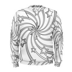 Star Christmas Pattern Texture Men s Sweatshirt