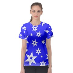 Star Background Pattern Advent Women s Sport Mesh Tee