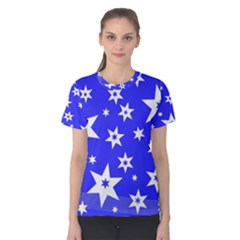 Star Background Pattern Advent Women s Cotton Tee
