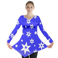 Star Background Pattern Advent Long Sleeve Tunic