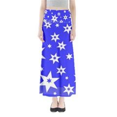 Star Background Pattern Advent Full Length Maxi Skirt