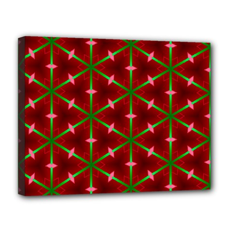Textured Background Christmas Pattern Canvas 14  X 11