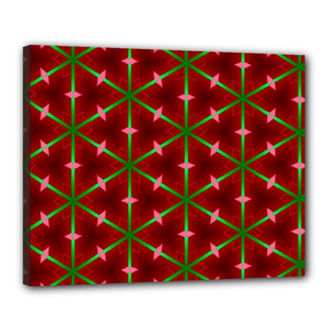 Textured Background Christmas Pattern Canvas 20  X 16