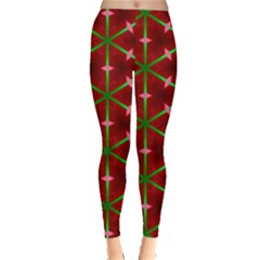 Textured Background Christmas Pattern Leggings