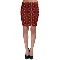 Textured Background Christmas Pattern Bodycon Skirt
