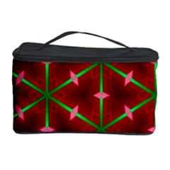 Textured Background Christmas Pattern Cosmetic Storage Case