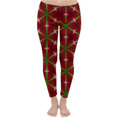 Textured Background Christmas Pattern Classic Winter Leggings