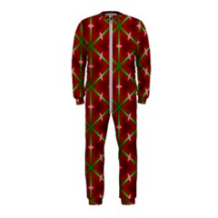 Textured Background Christmas Pattern Onepiece Jumpsuit (kids)