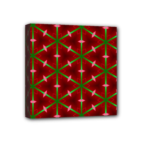Textured Background Christmas Pattern Mini Canvas 4  X 4