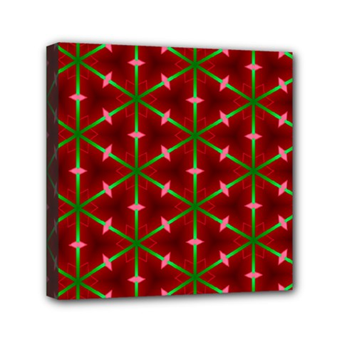 Textured Background Christmas Pattern Mini Canvas 6  X 6