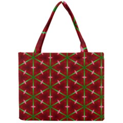 Textured Background Christmas Pattern Mini Tote Bag