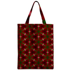 Textured Background Christmas Pattern Zipper Classic Tote Bag