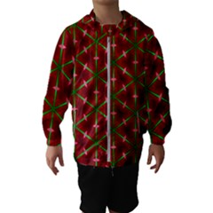 Textured Background Christmas Pattern Hooded Wind Breaker (kids)