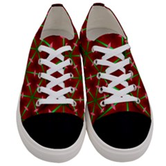 Textured Background Christmas Pattern Women s Low Top Canvas Sneakers