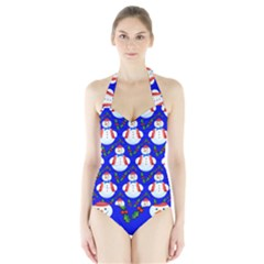 Seamless Repeat Repeating Pattern Halter Swimsuit