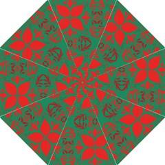 Christmas Background Folding Umbrellas