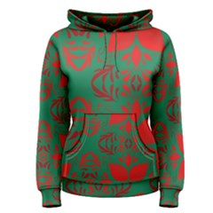 Christmas Background Women s Pullover Hoodie