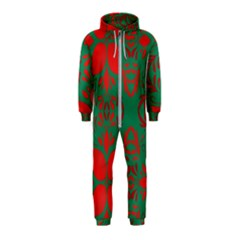 Christmas Background Hooded Jumpsuit (kids)
