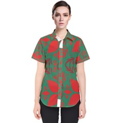Christmas Background Women s Short Sleeve Shirt