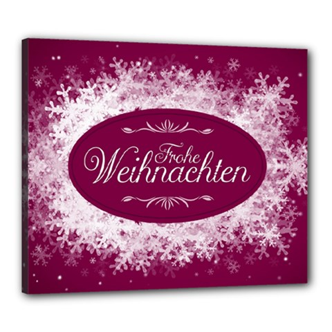Christmas Card Red Snowflakes Canvas 24  X 20