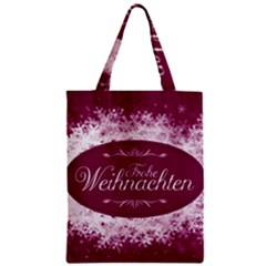 Christmas Card Red Snowflakes Classic Tote Bag