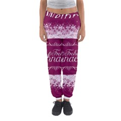 Christmas Card Red Snowflakes Women s Jogger Sweatpants