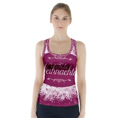Christmas Card Red Snowflakes Racer Back Sports Top