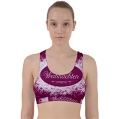 Christmas Card Red Snowflakes Back Weave Sports Bra