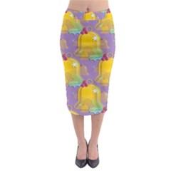 Seamless Repeat Repeating Pattern Midi Pencil Skirt