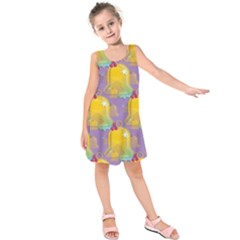 Seamless Repeat Repeating Pattern Kids  Sleeveless Dress