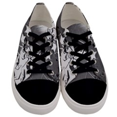 Background Celebration Christmas Men s Low Top Canvas Sneakers