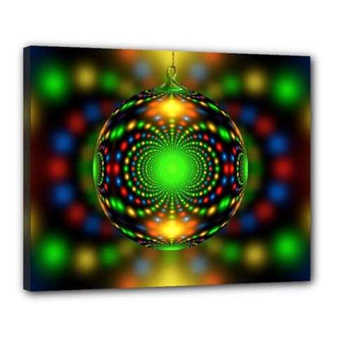 Christmas Ornament Fractal Canvas 20  X 16