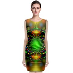 Christmas Ornament Fractal Classic Sleeveless Midi Dress