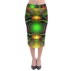 Christmas Ornament Fractal Midi Pencil Skirt